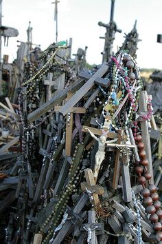 Lithuania | Hill of Crosses- I visited here back in 2007 and what a remarkable experience.