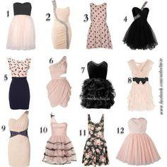 12 Vestidos color pasteles...