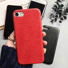 LOVECOM Case For iPhone 5 5S SE 6 6S 7 Plus Colorful Alligator Pattern Soft Leather CROCO Phone Case Back Cover Housing NEW