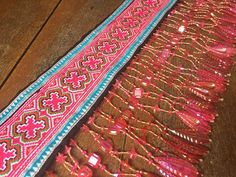 VINTAGE Hmong Textile    Embroidery Hmong Tapestry   Cross