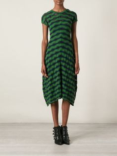 M Missoni Zig Zag Jacquard Asymmetric Hem Dress - Gaudenzi - Farfetch.com