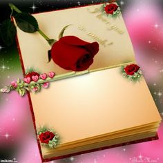 ~*~ Our Love Book! Framed Wallpaper, Flower Wallpaper, Flower Frame, Flower Art, Wedding Background Images, Beach Scrapbook Layouts, Boarders And Frames, Book And Frame, Birthday Wishes Messages