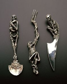 all my cutlery could look like this if you were rich and eccentric. working on both now, thanks.