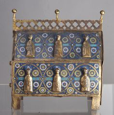 Reliquary. Enamel, gilt, and copper. French 13th century. Portland Art Museum 69.69.