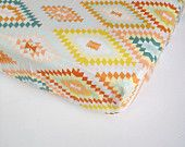 Aztec Baby Bedding - Changing Pad Cover / Crib Sheet / Geomentric Nursery Bedding / Standard or Mini Crib Sheets / Etsy Baby Sheet