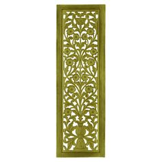Featuring floral latticework, this bright wall decor brings a pop of green to your hallway or living room.   Product: Wall pane...