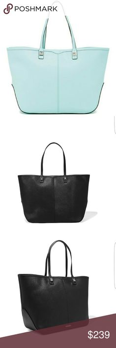 """Rebecca Minkoff Everywhere Leather Tote Textured-leather (Cow) Two top handles Stud embellishments, designer plaque, silver hardware Internal zipped compartment, zipped and patch pockets Fully lined in twill Lobster clasp fastening at open top Weighs approximately 1.8lbs/ 0.8kg Handle drop 8""""  height 11.5""""  width 19.5""""  Depth 6.5""""  Thanks for stopping by and shopping my closet  Check out my other listings  Ask me about custom bundles and save more money!! Rebecca Minkoff Bags Totes"""