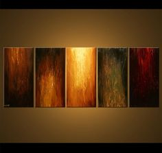 Large Abstract Painting Original Large Earth Tones by OsnatFineArt, $579.00