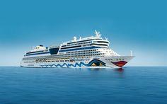 Download imagens AIDAmar, navios de cruzeiro, mar, calma, MS AIDAmar