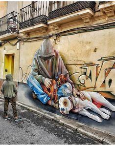 45 Choice Pics and Memes to Keep Boredom at Bay Street Art Banksy, 3d Street Art, Murals Street Art, Graffiti Murals, Best Street Art, Amazing Street Art, Mural Art, Street Artists, Urban Graffiti