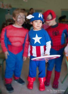 homemade Captain America costume                                                                                                                                                                                 More