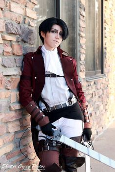 Corporal levi heichou from attack on titan cosplay. Shikarius is an amazing cosplayer! She's perfect!