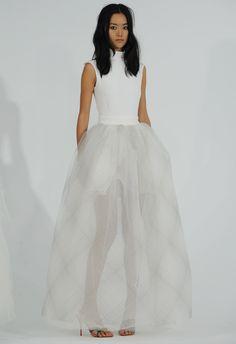 Sheer Plaid Wedding Dress | Houghton Bride Fall/Winter 2015 | Blog.theknot.com