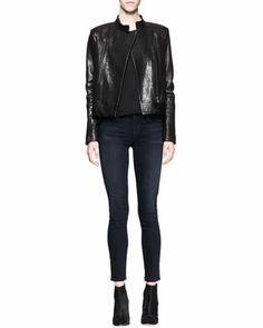 Crackled Leather Jacket