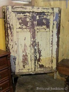 antique chippy corner cabinet, Petticoat Junktion