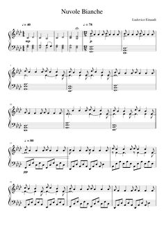 nuvole bianche piano sheet music - Google Search