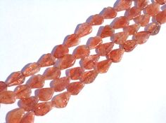 Sunstone Smooth Pear Semiprecious Gemstone Beads by beadsogemstone, $11.24