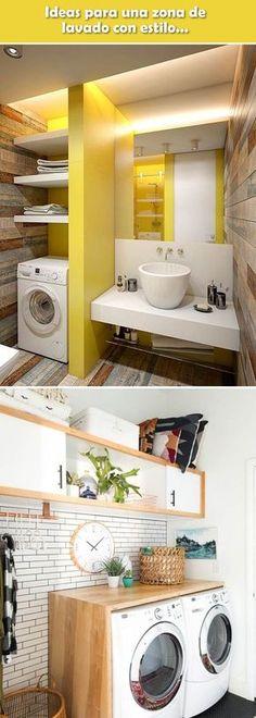 Ideas para lavaderos con estilo. Zonas de lavado. Decoración de cuartos de lavado. #lavaderos #decoracioninterior