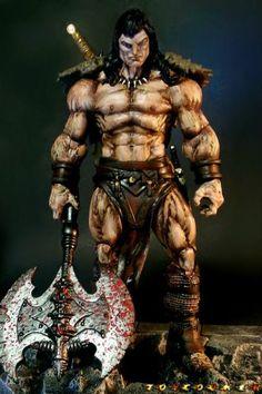 Conan the Barbarian (Olivetti Inspired Version 2) (Marvel Legends) Custom Action Figure http://www.figurerealm.com/viewcustomfigure.php?FID=70576