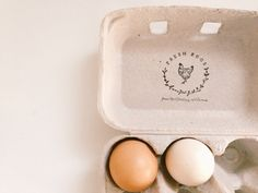 Fresh Eggs Chicken Rubber Stamp - Egg Packaging - Egg Carton Labeling by Substation Paperie