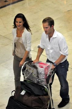 Pippa Middleton George Percy Photos: Pippa Middleton at Madrid Airport