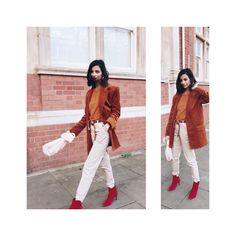 Three Ways To Wear The Red Boots This Season with Dune  Huesofwhite.com