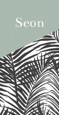 Geboortekaartje botanisch zwart wit - Seon voor