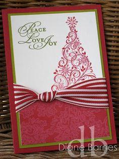 Snow Swirled Christmas card  - colour me happy