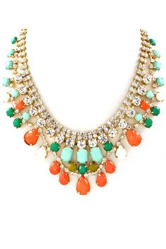 Crystal Kimberly Necklace on Emma Stine Limited