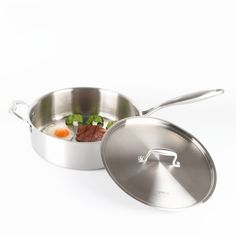 Stainless-Steel Saucepan with Ears and Lid // 12inch 30cm  Price: 149.94 & FREE Shipping  #health