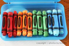 Edible crayons for lunches