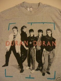Gotta have this one! Vintage Duran Duran Concert T Shirt 1984 Tour M/S Cool Tees, Cool T Shirts, Vintage Rock Tees, John Taylor, Concert Tees, Band Shirts, Material Girls, Great Bands, Concerts