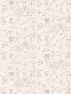 One Hundred Acre Wood Map