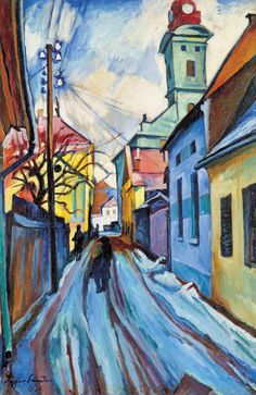 Ziffer, Sándor (1880-1962) Alley in Baia Mare, 1931