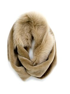 Gushlow & Cole mixed shearlilng Loop Scarf in Toscana and merino. #madeinengland
