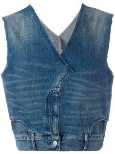 Source by ChristStein Designer Waistcoats & Men's Vests - Luxury Shop Maison Margiela jean denim vest. Source by ChristStein Red Vest Mens, Denim Vest Men, Artisanats Denim, Denim Top, Tweed Vest, Plaid Vest, Denim Jackets, Mode Outfits, Casual Outfits