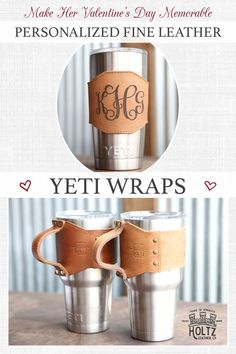These wraps for your Yeti are the ideal gift this Valentine's Day! Made from the finest 100% Full Grain Leather.
