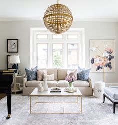 I usually start making plans to move in to each and every Studio McGee gem that we feature. Their latest and greatest is absolutely no exception. With the softest pastel color palette and a signature touch of gold, the formal living room