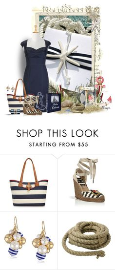 """""""Let's Go Nautical"""" by anna-campos ❤ liked on Polyvore featuring Tommy Hilfiger, Marc Jacobs, HomArt and Assouline Publishing"""