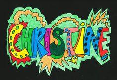 Klas 2BK begon dit schooljaar met het tekenen van hun naam in Graffiti stijl. Art Education Lessons, Art Lessons, Graffiti Lettering, Graffiti Art, Typography, Name Design Art, Youtube Channel Art, Diy Canvas Art, Art Plastique