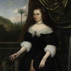Portrait of Dina Lems, Wife of Jan Valckenburgh, Daniel Vertangen, c. 1660 - Rijksmuseum