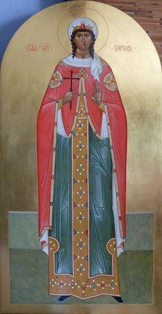 St. Barbara Saint A, Fleece Blankets, Altars, Butterfly, Paintings, Female, Women, Paint, Women's