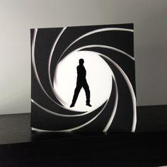 James Bond 007 inspired Handmade Card