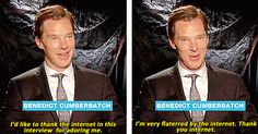 """""""And the internet thanks YOU, Ben!"""" - We love you, you adorable man!"""