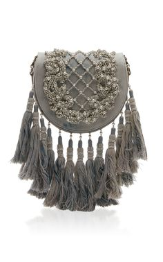 Flap Bag with Tassels by BALMAIN for Preorder on Moda Operandi
