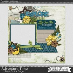 06-13-15 Freebie Quick Page created by Deanna using Adventure Time from Designs by Connie Prince