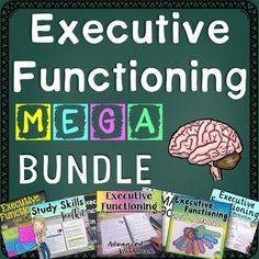 Target executive functioning and study skills necessary for academic success at the middle and high school level. The bundle includes over 300 pages full of lessons, templates, and workbook pages to teach study strategies and ways to improve executive fun Teaching Social Skills, Social Emotional Learning, Teaching Resources, Teaching Strategies, Teaching Tools, High School Teen, Middle School Teachers, Adhd Strategies, Special Education Classroom