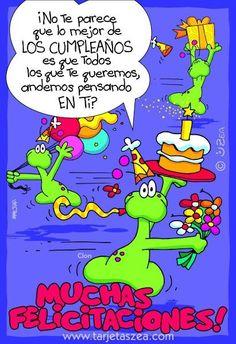Happy Birthday In Spanish, Free Happy Birthday Cards, Happy Birthday Quotes, Birthday Thank You, Happy Birthday Wishes, Tips To Be Happy, Bday Cards, Beautiful Dark Art, Happy B Day