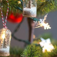 These Tea Light Snowman Ornaments are sure to light up your Christmas tree- and your heart with their cute faces, hats, and scarfs!
