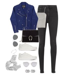 """""""Untitled #4312"""" by magsmccray on Polyvore featuring rag & bone, Topshop, Gucci, Vans and Gentle Monster"""